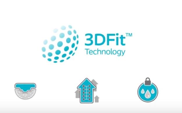 Biatain Silicone 3DFit® Technology가  어떻게  빈 공간을 채워 삼출액이 고이는 것을 예방하는지 확인해 보십시오.